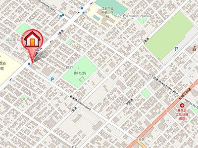 地図,2LDK,面積80.64m2,賃料6.0万円,JR函館本線 野幌駅 徒歩20分,,北海道江別市錦町