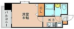ピュアドーム箱崎アネックス[5階]の間取り