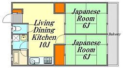 広島県広島市佐伯区楽々園3丁目の賃貸マンションの間取り