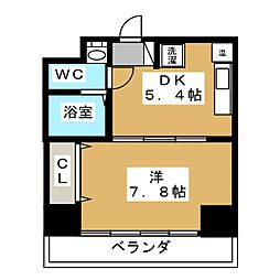 シボラ六条高倉[2階]の間取り