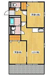 MアンドS 7番館[205号室]の間取り