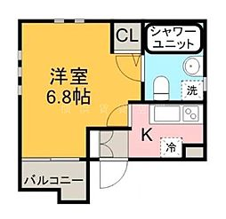 Aレガート吉野町[3階]の間取り