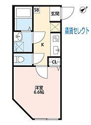 松戸新田 HAPPY HOUSE マツドシンデンハッピーハウス[103号室]の間取り