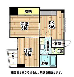 サンクレスト小倉[2階]の間取り