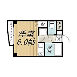 千葉県千葉市中央区弁天3丁目の賃貸マンションの間取り