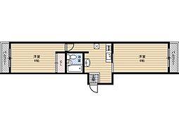 サンモール木川[4階]の間取り