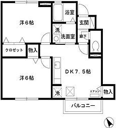 DL カーサウィルモア [D-ROOM][1階]の間取り