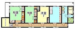 カーサ船岡山[401号室]の間取り