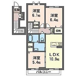ラフレーズ[2階]の間取り