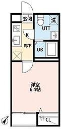 千葉県柏市つくしが丘1丁目の賃貸アパートの間取り