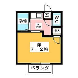 ハイツオンラード[2階]の間取り