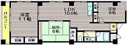 ストークマンション烏山[3階]の間取り