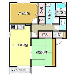 セジュール高田A[2階]の間取り