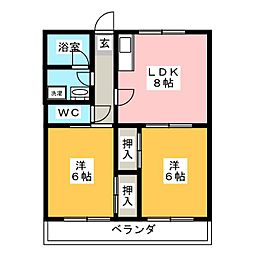マンション風[2階]の間取り