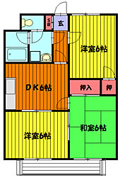 ルピナス草加II[302号室]の間取り