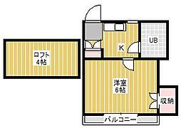 エイト横須賀[1階]の間取り