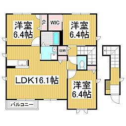 長野県諏訪市南町の賃貸アパートの間取り