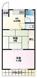 曽根パールマンション[3階]の間取り