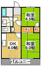 兵庫県宝塚市高司1丁目の賃貸アパートの間取り