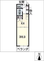 グレイス滝ノ水[1階]の間取り