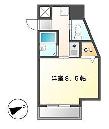 ドール新栄[3階]の間取り