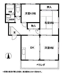 コーポラストネB[2階]の間取り