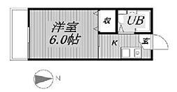 千葉県習志野市藤崎5の賃貸アパートの間取り