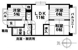 愛知県名古屋市南区汐田町の賃貸マンションの間取り