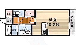 ORCHID POINT 1階ワンルームの間取り