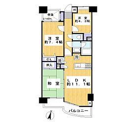 コンフォート南越谷[3階]の間取り