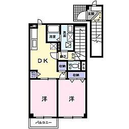 フェアリーハウスA[2階]の間取り