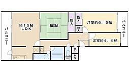 摂津スカイハイツ[7階]の間取り