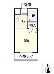 カスティーヌ千代田[2階]の間取り