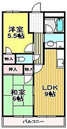 大阪府高石市取石3の賃貸マンションの間取り