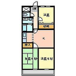 ヘリテージ武庫之荘[4階]の間取り
