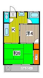 コーポ長島[1階]の間取り