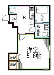 JR総武線 西荻窪駅 徒歩7分の賃貸アパート 1階1Kの間取り