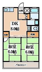 メゾンK・E[3階]の間取り