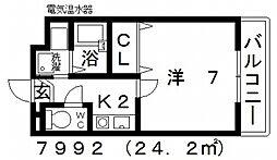 七神国府ビル[503号室号室]の間取り
