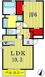 リーフハイツ[3階]の間取り