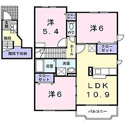パルパレスA[2階]の間取り