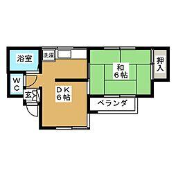 ピュアハウス今泉[1階]の間取り
