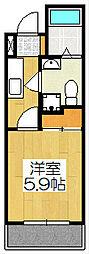 サイト京都西院[4D号室]の間取り