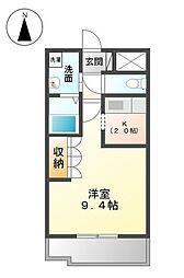 シェモア千日[1階]の間取り