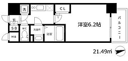大阪府大阪市西区南堀江4の賃貸マンションの間取り
