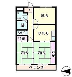 レックスさくら第一ビル[3階]の間取り