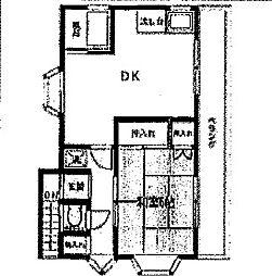 高師アパート[201号室号室]の間取り