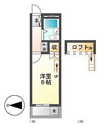 パレス小幡[1階]の間取り