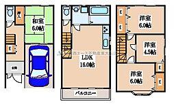 [一戸建] 大阪府大東市諸福5丁目 の賃貸【/】の間取り