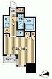 KDXレジデンス東新宿[1110号室]の間取り